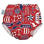 My Swim Baby® Small Ahoy Reusable Swim Diaper in Red