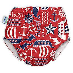 My Swim Baby® Ahoy Reusable Swim Diaper in Red