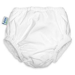 My Swim Baby® Reusable Swim Diaper in White