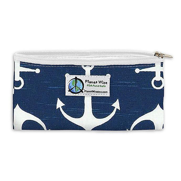 Alternate image 1 for Planet Wise™ Overboard Zipper Snack Bag in Dark Blue