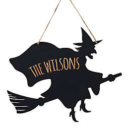 Witch Hanging Wall Plaque in Black