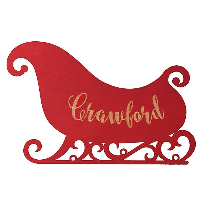 Alternate image 1 for Sleigh Hanging Wall Plaque in Red