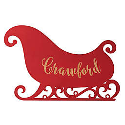 Sleigh Hanging Wall Plaque in Red
