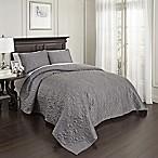 Beautyrest® Valentre Queen Coverlet Set in Pewter