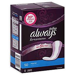 Always Xtra Protection 50-Count Regular Unscented Pantiliner