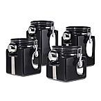 Oggi™ EZ Grip  Handle 4-Piece Kitchen Canister Set in Black