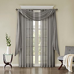 Madison Park Harper Solid Crushed Rod Pocket/Back Tab Window Curtain and Valance