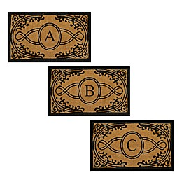 Nature by Geo Crafts Bristol Monogrammed Letter Door Mat in Natural Black