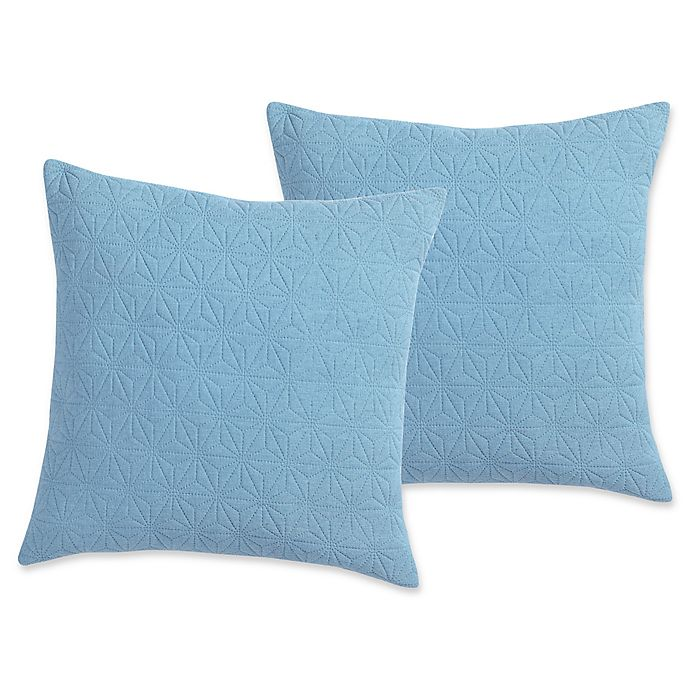 Alternate image 1 for VCNY Pinsonic Square Throw Pillows in Blue (Set of 2)