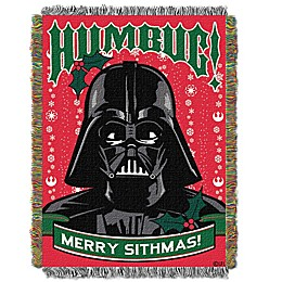 """Star Wars™ """"Humbug"""" Woven Tapestry Throw Blanket"""