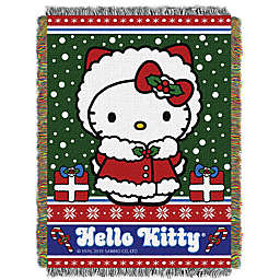 "Hello Kitty® ""Snowy Kitty"" Woven Tapestry Throw Blanket"