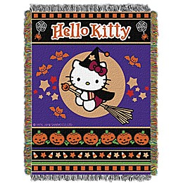 "Hello Kitty® ""Witchy Kitty"" Woven Tapestry Throw Blanket"