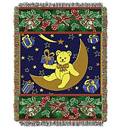 Holiday Bear Woven Tapestry Throw Blanket