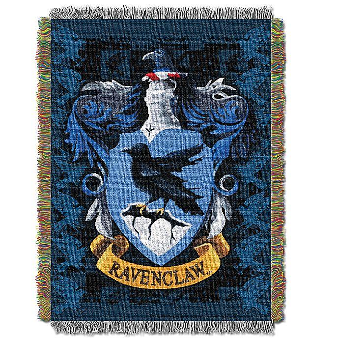 Alternate image 1 for Harry Potter™ Ravenclaw Woven Tapestry Throw Blanket