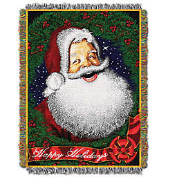 Howdy Santa Woven Tapestry Throw Blanket