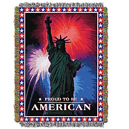 July Fourth Holiday Woven Tapestry Throw Blanket