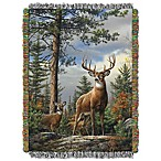 Hautman Brothers King Stag Woven Tapestry Throw Blanket
