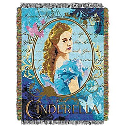 Disney® Cinderella Woven Tapestry Throw Blanket