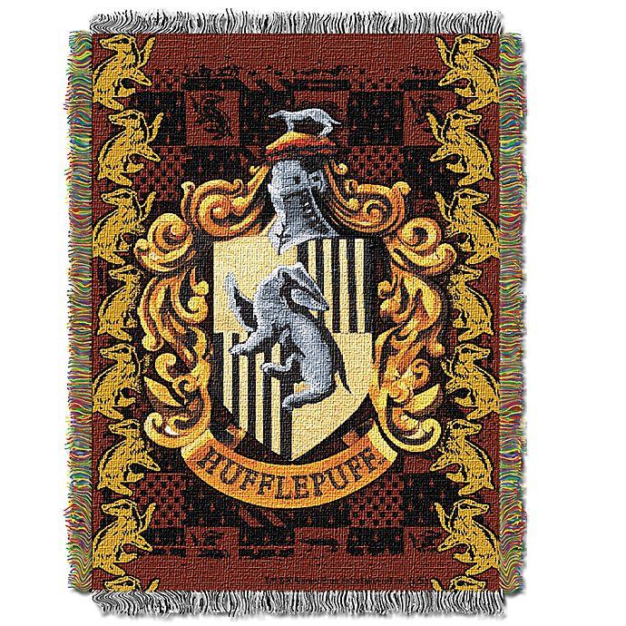 Alternate image 1 for Harry Potter™ HufflePuff Crest Tapestry Throw Blanket