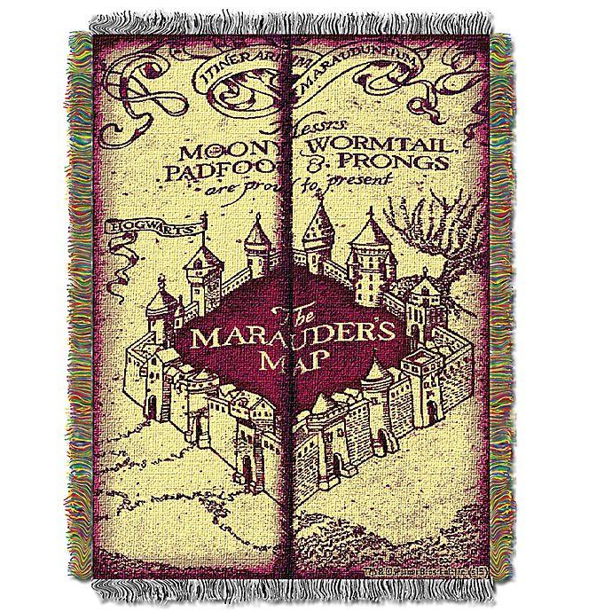 Alternate image 1 for Harry Potter Marauders Map Woven Tapestry Throw Blanket