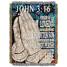 John 3:16 Woven Tapestry Throw Blanket