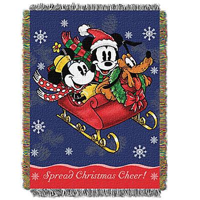 Disney® Mickey Mouse Sleigh Ridge Tapestry Throw
