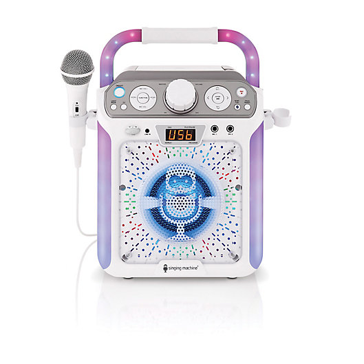 Alternate image 1 for The Singing Machine Groove Cube Karaoke System in White