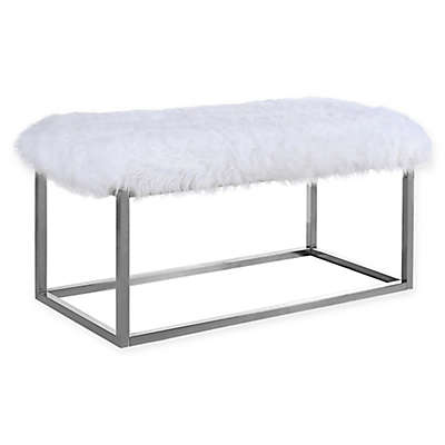 Chic Home Audrey Ottoman Bench in Chrome