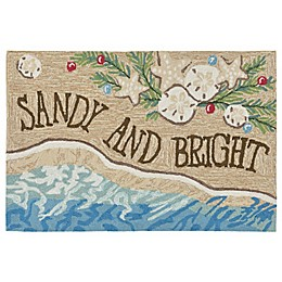 Liora Manne Sandy and Bright Indoor/Outdoor Accent Rug in Natural
