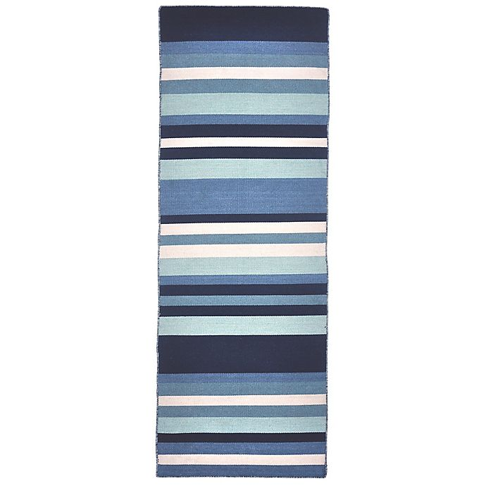 Alternate image 1 for Liora Manne Tribeca Water 2-Foot x 8-Foot Runner in Blue