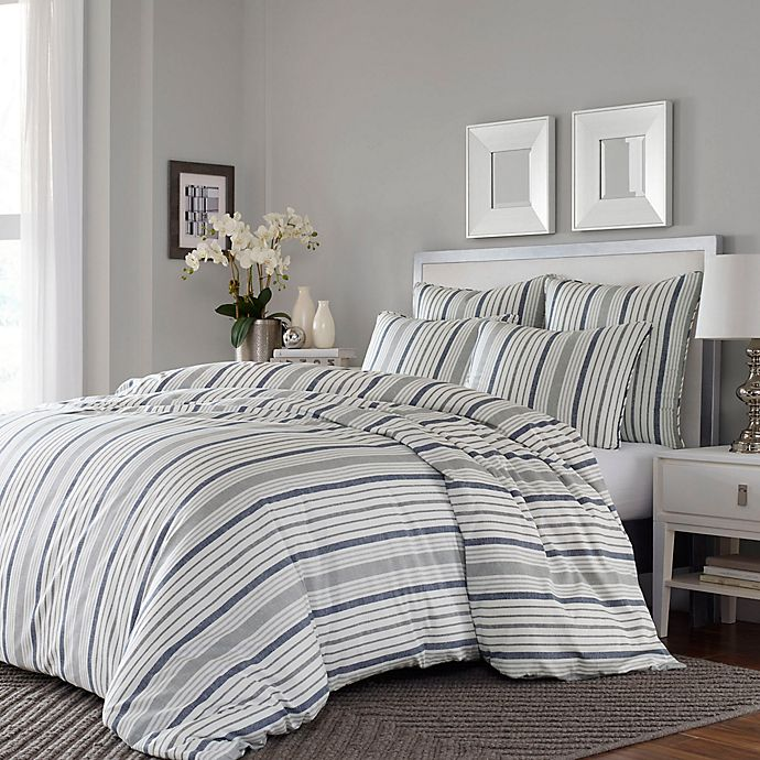 Alternate image 1 for Stone Cottage Conrad 3-Piece Full/Queen Duvet Cover Set in Grey