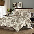 Stone Cottage Medallion Queen Comforter Set in Brown