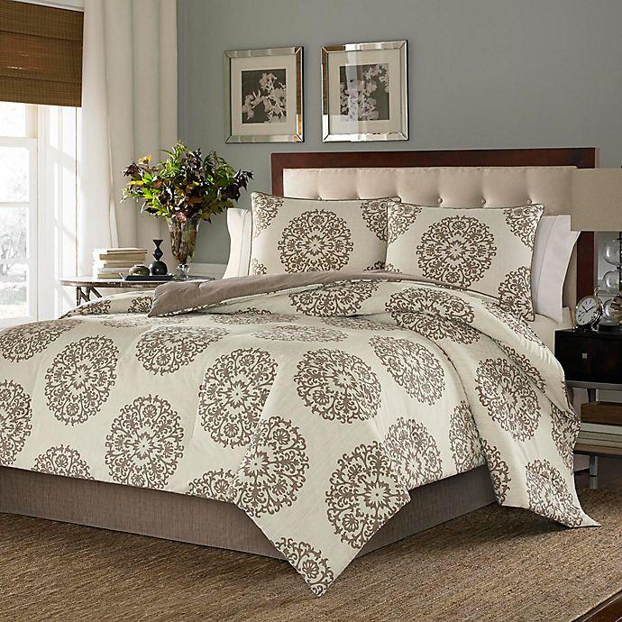 Alternate image 1 for Stone Cottage Medallion King Comforter Set in Brown