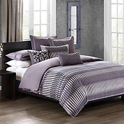 N Natori® Abstract Stripe Duvet Cover Set