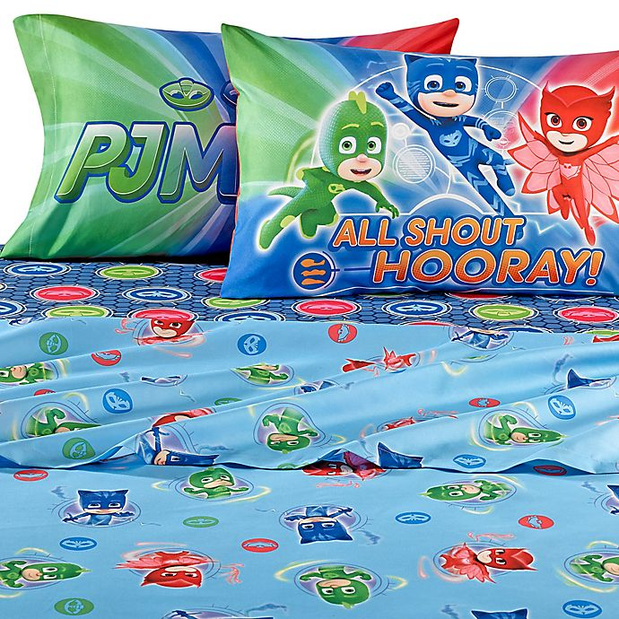 Alternate image 1 for PJ Masks Twin Sheet Set
