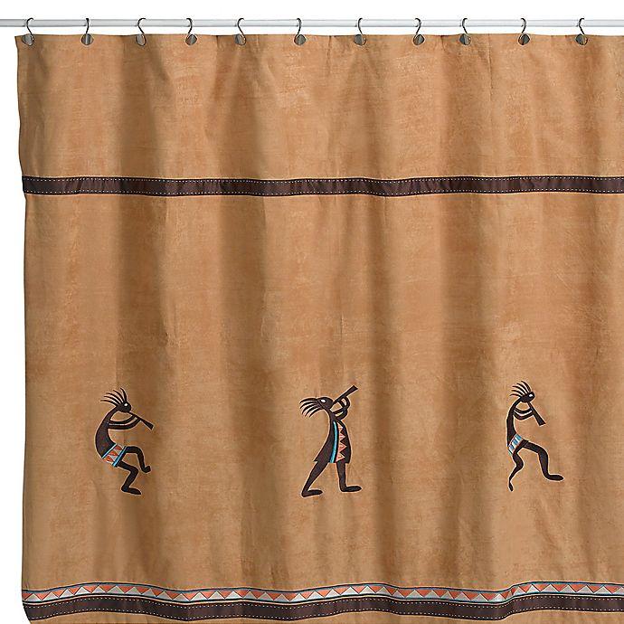 Avanti Kokopelli Shower Curtain In Nutmeg