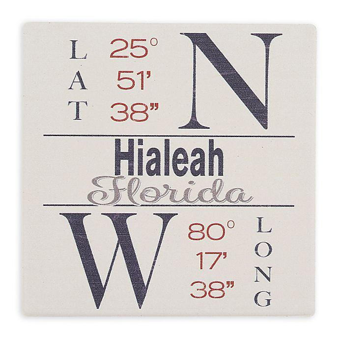 Alternate image 1 for Thirstystone® Dolomite Hialeah, FL Coordinates Square Single Coaster