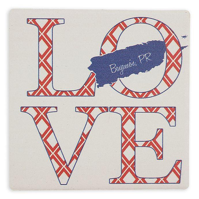 Alternate image 1 for Thirstystone® Dolomite Bayamon, PR Love Square Single Coaster