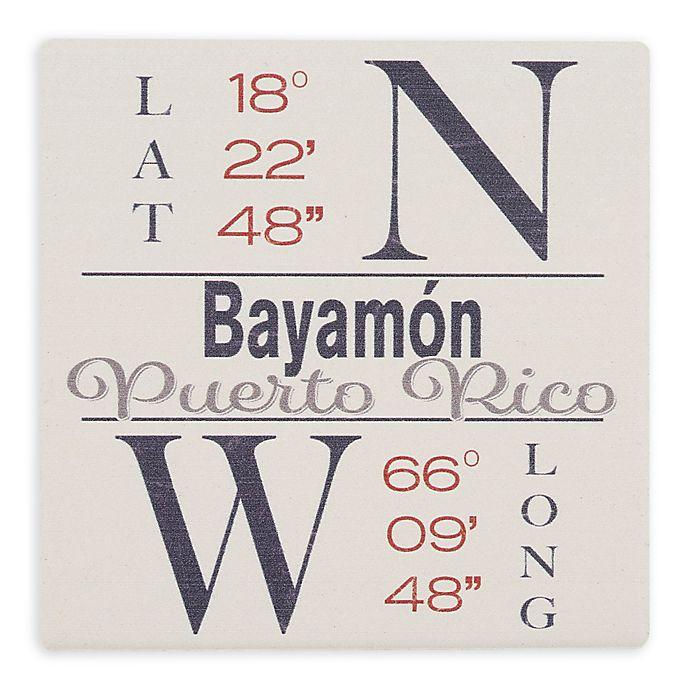 Alternate image 1 for Thirstystone® Dolomite Bayamon, PR Coordinates Square Single Coaster