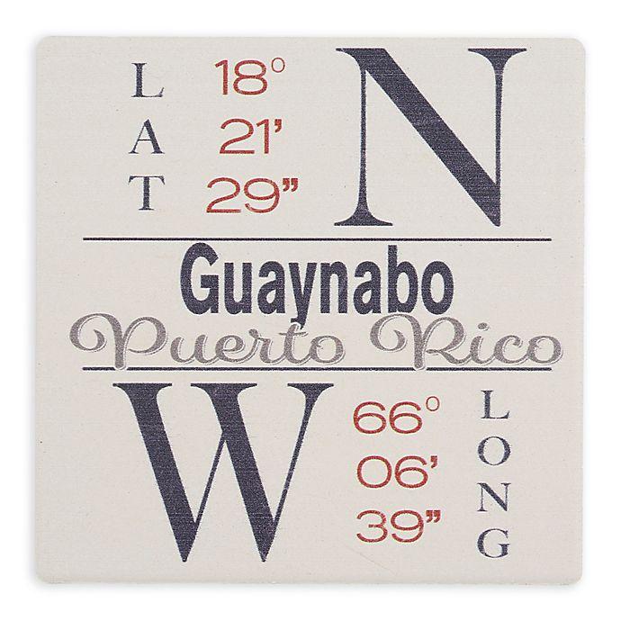 Alternate image 1 for Thirstystone® Dolomite Guaynabo, PR Coordinates Square Single Coaster