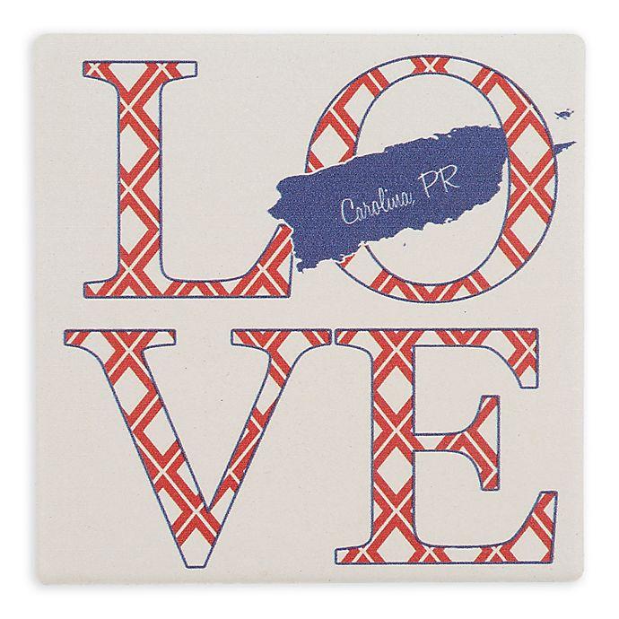Alternate image 1 for Thirstystone® Dolomite Carolina, PR Love Square Single Coaster