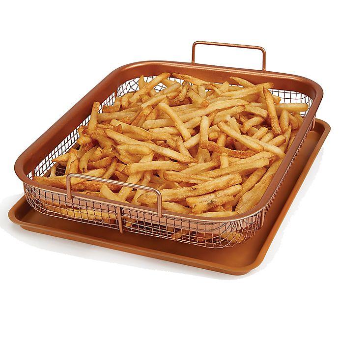 Alternate image 1 for Copper Chef™ Copper Crisper 2-Piece Oven Pan Set