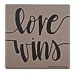 Thirstystone® Love Wins Single Square Coaster