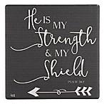 Thirstystone® Dolomite God is Strength & Shield Single Square Coaster