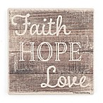 Thirstystone® Dolimite Faith, Hope and Love Single Square Coaster