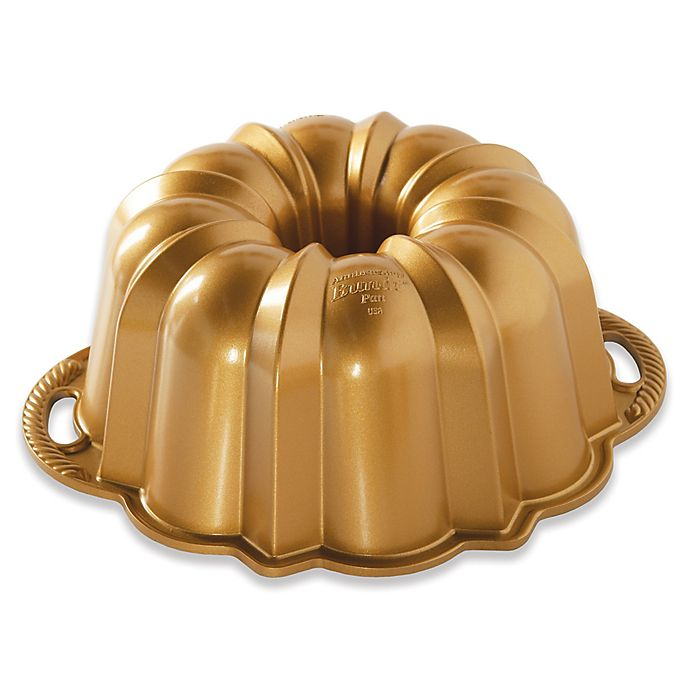 Alternate image 1 for Nordic Ware® Anniversary Premier Gold 12-Cup Bundt Pan in Gold
