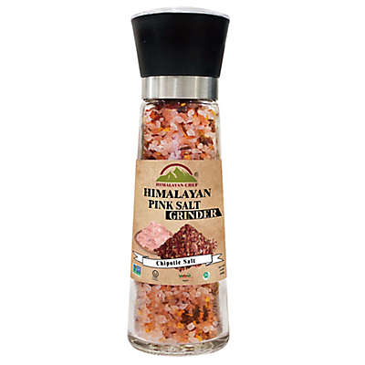 Himalayan Chef® Himalayan Pink Salt & Chipotle in Refillable Glass Grinder