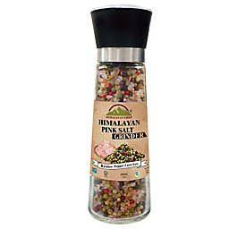 Himalayan Chef® Himalayan Pink Salt & Rainbow Peppercorn in Refillable Glass Grinder