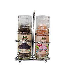 Himalayen Chef Pink Salt & Black Pepper Grinder Set