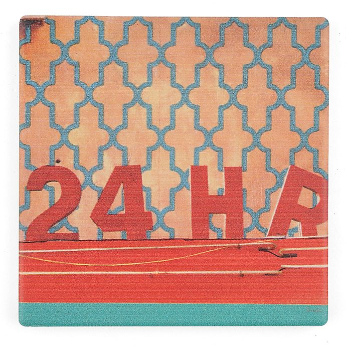 Alternate image 1 for Thirstystone® Dolomite Urban College 24 Hour Square Single Coaster